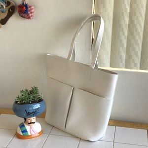 Large, White Sturdy Tote